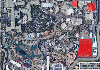 Disney California Adventure Expansion Pads 2019 Satellite View
