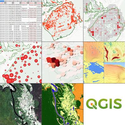 QGIS онлайн-курс точки grid классификация растров цифровая модель рельефа регулярная сетка