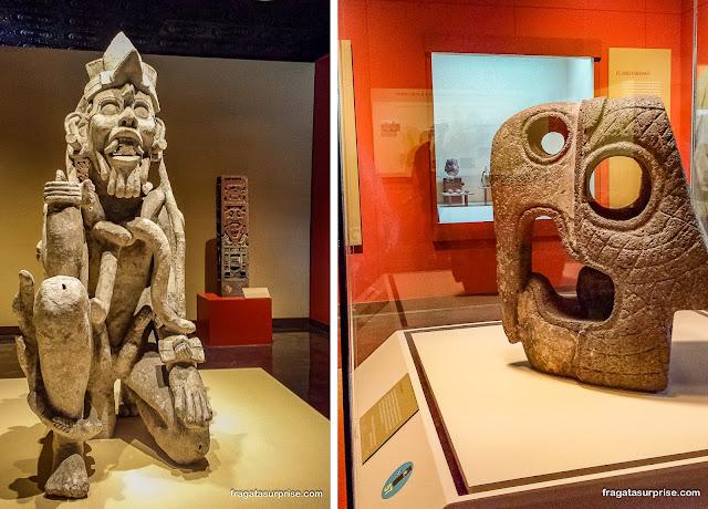 Peças da cultura Tolteca no Museu Nacional de Antropologia do México