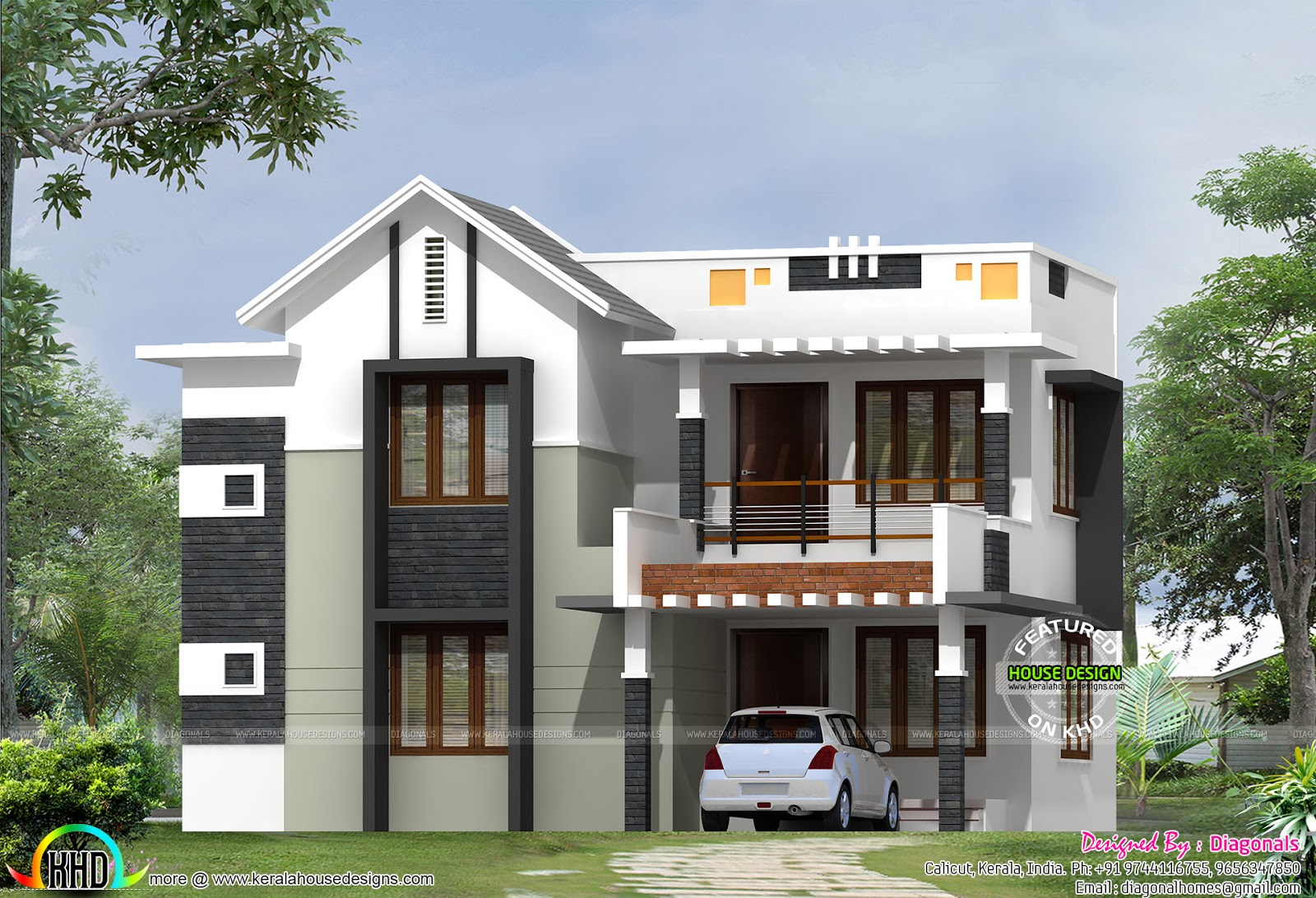2011 sq ft simple home design kerala home design and for Simple kerala home designs