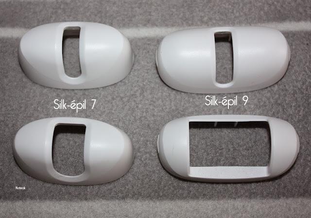 comparaison accessoires Silk-épil 9  et Silk-épil  7