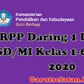 RPP Daring 1 Lembar SD/MI Kelas 1-6  Revisi 2020