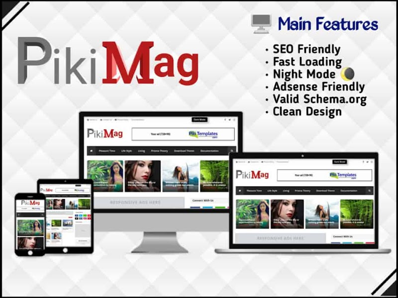 Piki Mag Template - Responsive Blogger Template