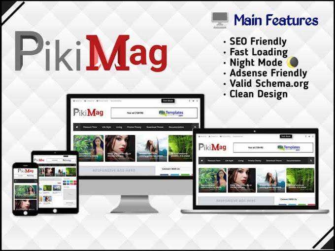 Piki Mag - Magazine Blogger Template - Responsive Blogger Template