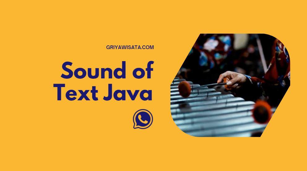 Sound of text java