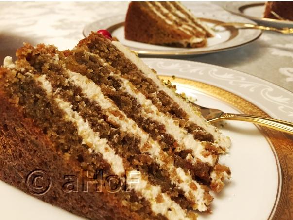 Almond Pistachio Torte with Baklava Flavors