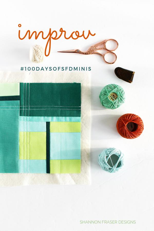 Improv Mini Quilt   Best of 2019   Shannon Fraser Designs #wip #worksinprogress #modernimprovquilting #handquilted