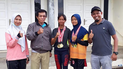 Dua Siswi SMPN 4 Payakumbuh Seleksi POPDA Provinsi 2021