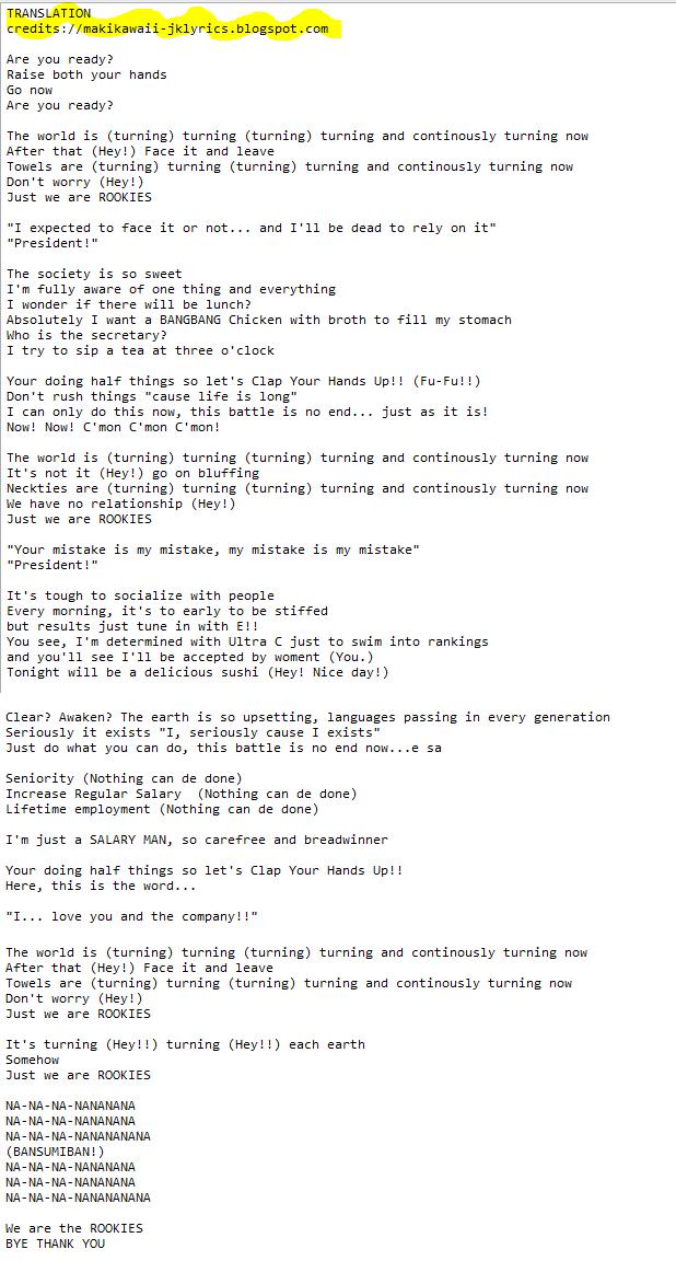 Random Jpop Lyrics & Translations
