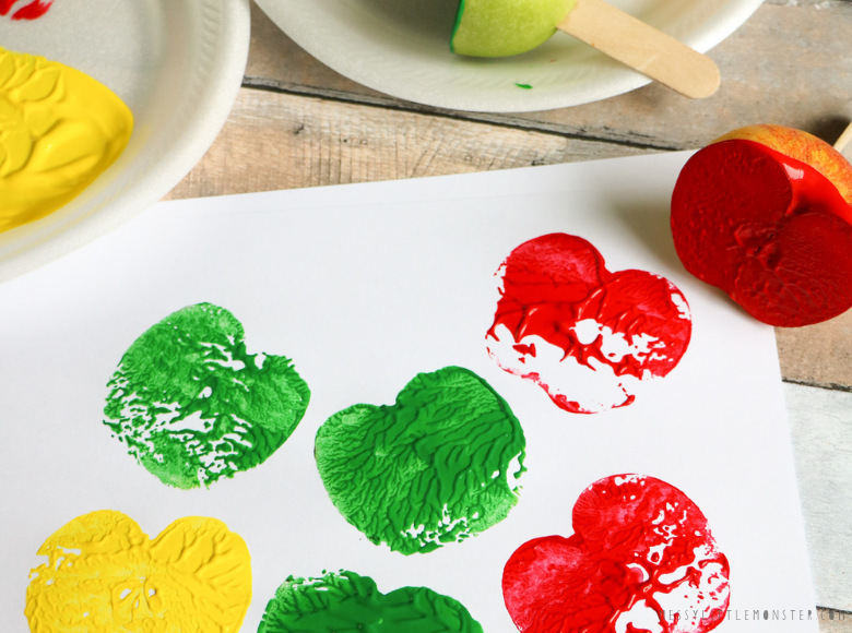 Apple stamp painting