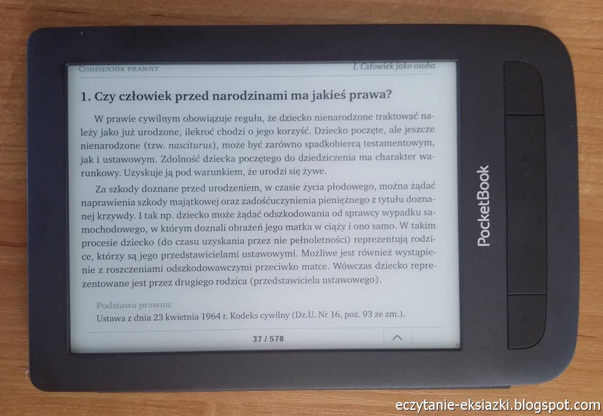 PocketBook Basic Touch 2 Save & Save – pdf w trybie poziomym