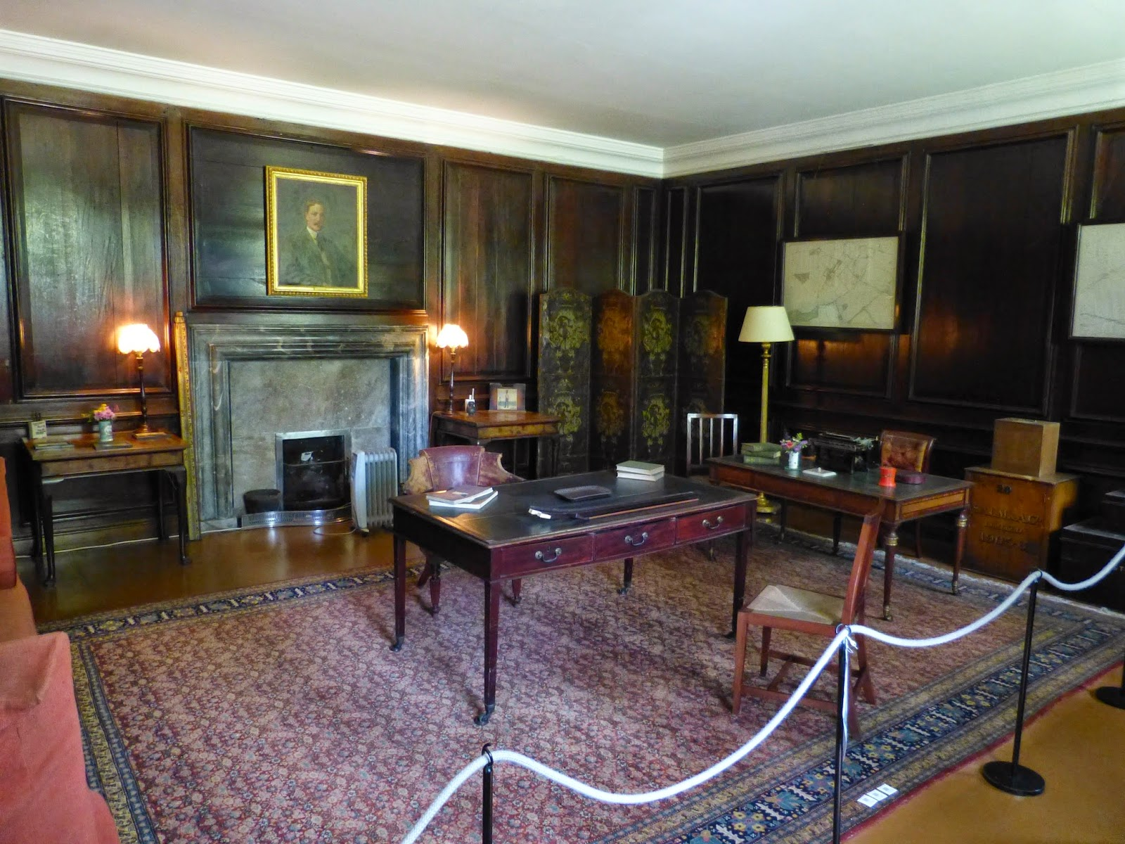 The Steward's Room  Displayed as left by the Earl of Jersey in the 1970s