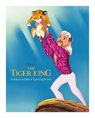 The Tiger King Fine Art Giclee Charity Print by Travis Falligant x Bottleneck Gallery
