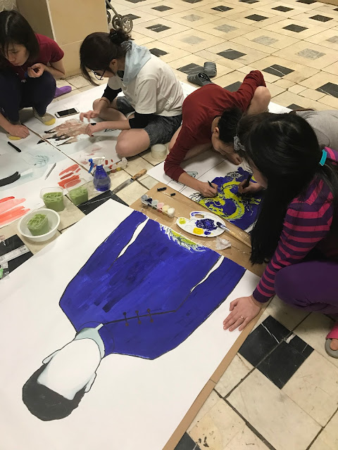 Chi đoàn ốp 6 trường RUDN làm khung chụp hình cho Tuần lễ văn hóa 4.2018