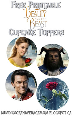 beauty and the beast 2017 printables