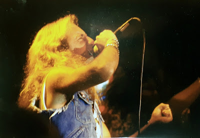 """TT Quick on stage at The BirchHill nightclub just as the """"Metal of Honor"""" album was released in 1986"""