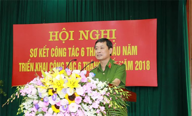 Thiếu tướng Lê Minh Hùng phát biểu tại Hội nghị