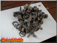 removed from foundry crucible engine block metal scrap