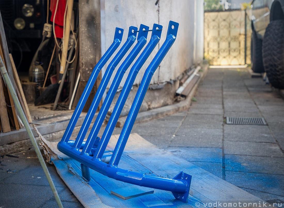 Окраска защиты ГАЗ Соболь 4х4 синей краской