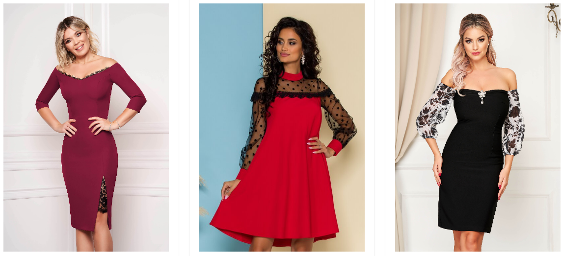 Rochii scurte elegante ieftine la moda 2020 de nunta si ocazii toamna iarna