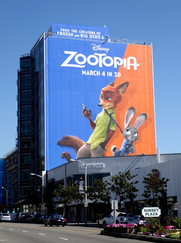 Disney Zootopia movie billboard