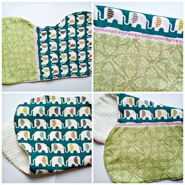 Burp Cloth, Puppilalla, Cloud 9 Fabrics, free pattern, baby shower
