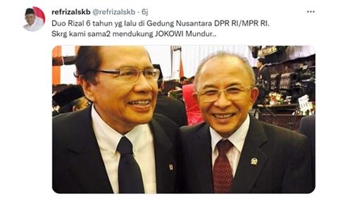 Unggah Fotonya dengan Rizal Ramli, Refrizal: Duo Rizal Sama-sama Dukung Jokowi Mundur