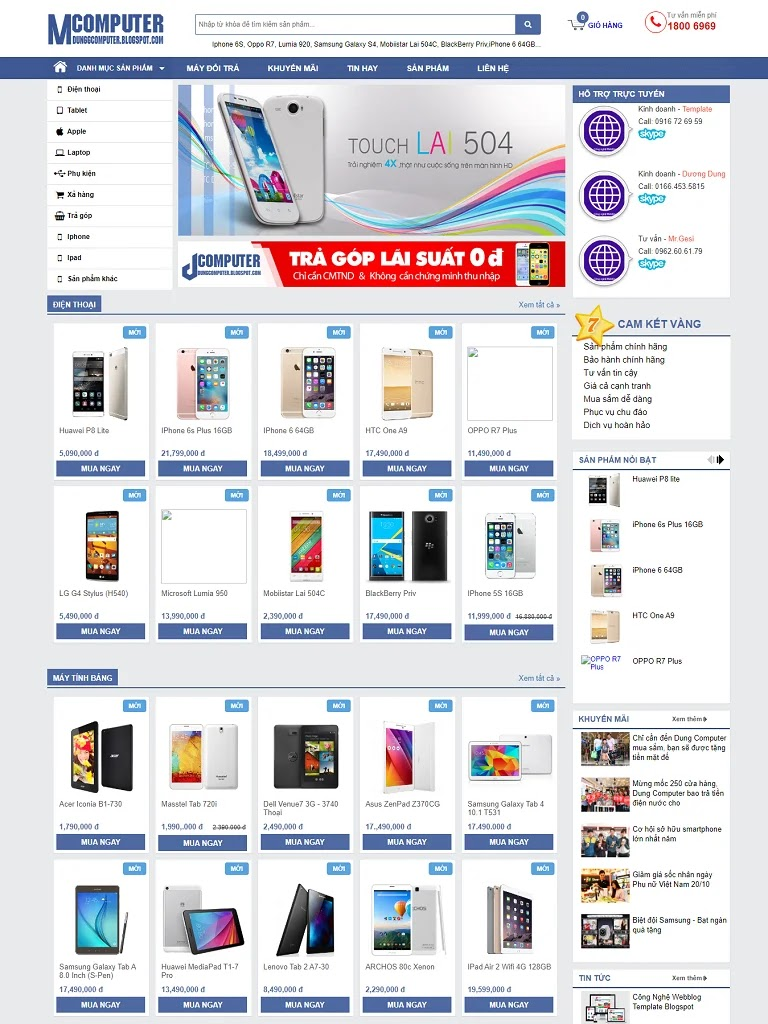 Chia sẻ template blogspot bán hàng điện tử miễn phí - Ảnh 1