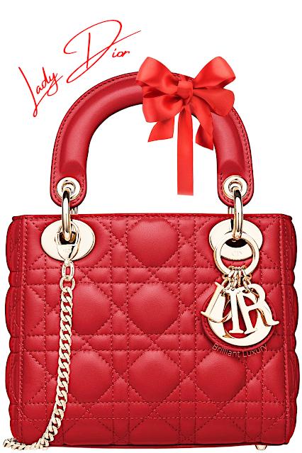 Dior red Lady Dior top handle bag #brilliantluxury