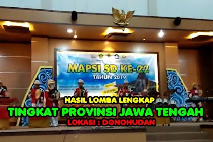 Hasil Lengkap Lomba Mapsi Tingkat Provinsi Jawa Tengah Mapsi Ke 22 Tahun 2019