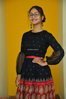 Aditi Myakal in Spicy Red Short Skirt and Transparent Black Top at at Big FM For Promotion of Movie Ami Tumi 080.JPG