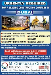 UAE JOBS : REQUIRED FOR A LEADING CONSTRUCTION COMPANY IN DUBAI .g