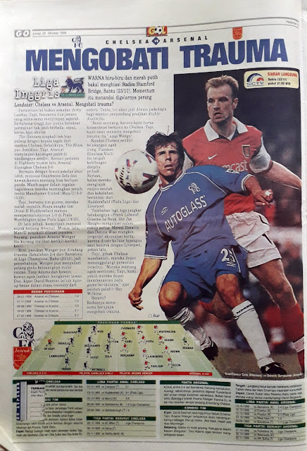 ZOLA OF CHELSEA VS BERGKAMP OF ARSENAL