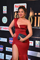 Natasha Nebasha in a Leg Slit Sleeveless Stunning Red Gown at IIFA Utsavam Awards 2017 021.JPG