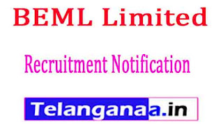 BEML Limited Recruitment Notification 2017