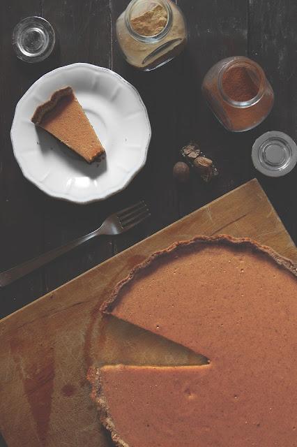 Pumkin pie o crostata di zucca con latte condensato