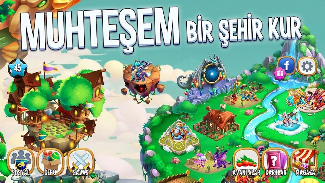 Dragon City Hileli APK - Ada Açma Menü Hilesi Reklamsız APK