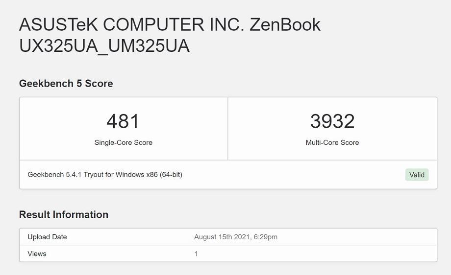 ASUS Zenbook 13 OLED UM325 Review: Performance