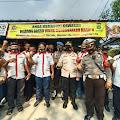 Peguyuban Pedagang Mie Dan Bakso Indonesia(PAPMISO) Bersama Polsek Cikarang Utara Membagikan 3000 Masker Gratis