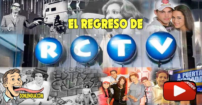 El regreso de RCTV - Descarga aquí la aplicación para el celular