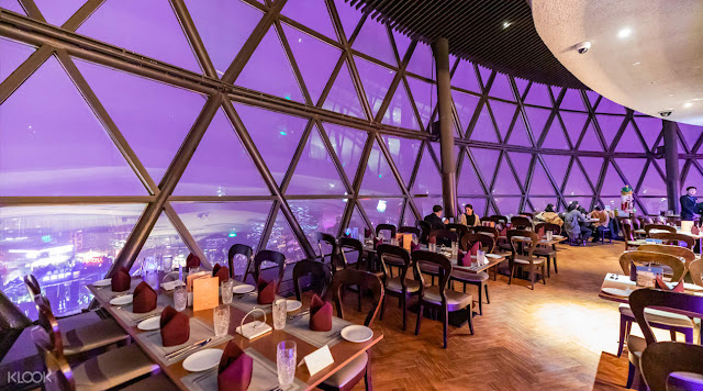 Dinner at the Oriental Pearl Tower