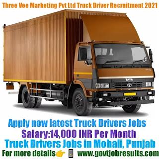 Three Vee Marketing Pvt Ltd Truck Driver Recruitment 2021-22