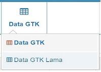 Menu GTK terdiri dari Data GTK dan GTK Lama