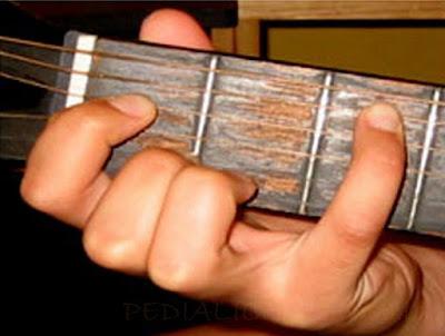 Cara Menekan Senar Chord C Minor untuk Gitaris Kidal