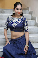 Ruchi Pandey in Blue Embrodiery Choli ghagra at Idem Deyyam music launch ~ Celebrities Exclusive Galleries 045.JPG