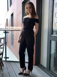 Black Tuxedo Jumpsuit