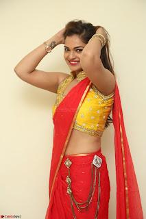 Actress Ashwini in Golden choli Red saree Spicy Pics ~  047.JPG