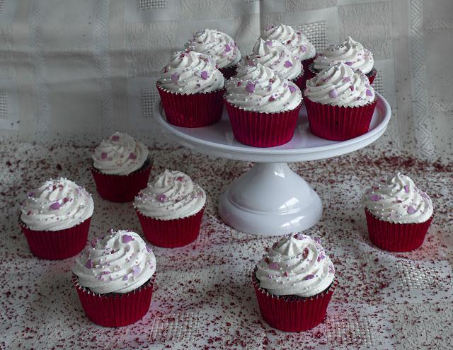 Cupcakes Red Velvet 2.0 para San Valentin