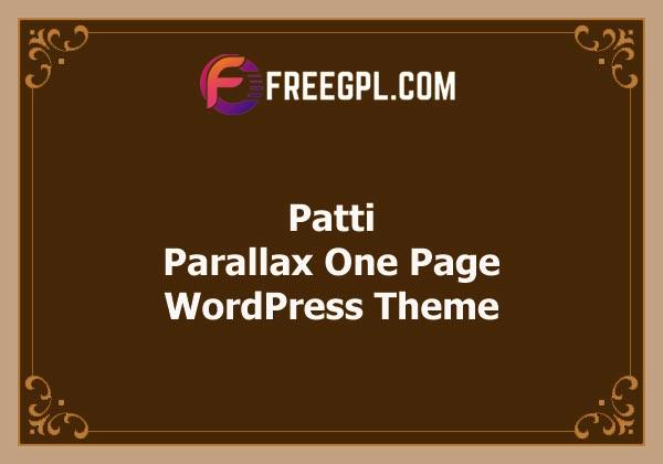 Patti - Parallax One Page WordPress Theme Free Download