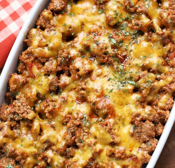 Cheeseburger Casserole #ketodiet #lowcarb